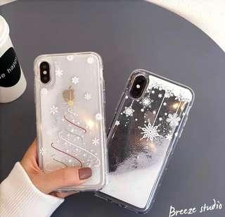 Christmas Glitter Transparent Glitter iPhone Casing