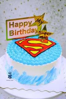 Birthday cake - My superman