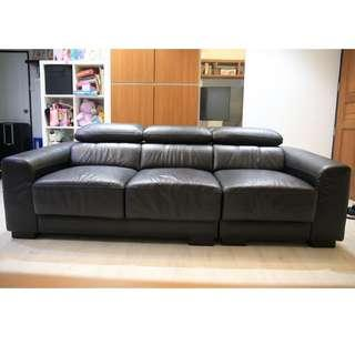3-seater Couch (Black)