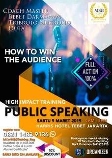 MBG Training: Public Speaking