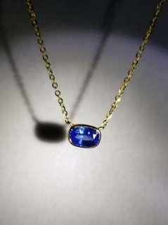 14K金 0.9ct. 藍寶石 鎖骨頸鏈