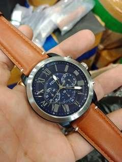 Fossil Leather Watch For Men / Best Seller