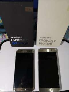 Samsung S7 Edge and Note 5