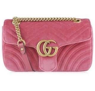 (On sale)Gucci GG Marmont Velvet shoulder bag