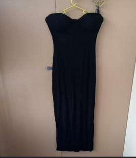 Black Tube Midi Dress