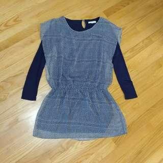 圓點連身裙 dress