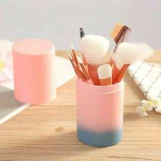 Pink Blue Makeup Brush 12Pcs + Tube
