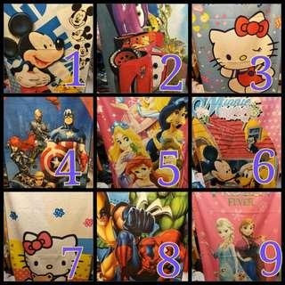 Character Bath Towels Frozen Hello Kitty Disney Princess Avengers