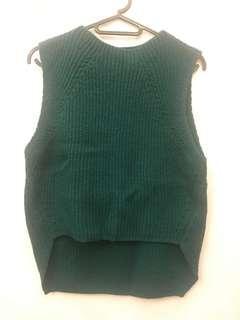 (韓貨)森林綠針織背心