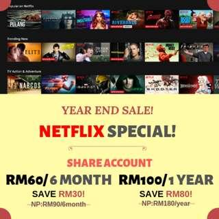 NETFLIX Premium UHD Year End Sale! #dec50
