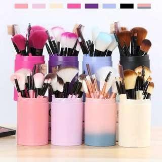 Makeup Brush Set 12 Pcs + Tube
