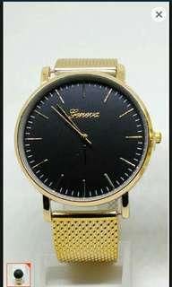 geneva rubber wrist watch