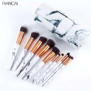 Marble Makeup Brush 10Pcs