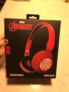 Limited Edition! Marvel Avengers Headphone with microphone foldable