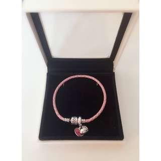 🚚 [真品]PANDORA🎉聖誕節活動🎉粉色編織❤️ 手鏈✨優惠價2700✨