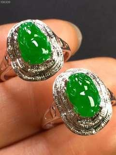 翡翠A貨18K金戒指 貔貅Jade Ring
