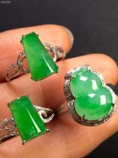 翡翠A玉18K戒指Jade Ring