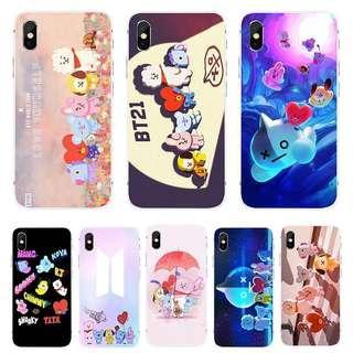 [PO] bts bt21 cuteee group tpu iphone case