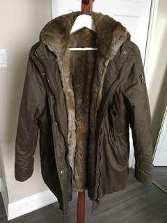 BlueDuck Fur Lined Winter Parka Size XL