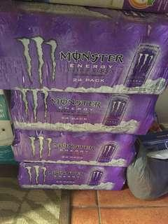 Monster energy drink sugar free by the case expiry 2020