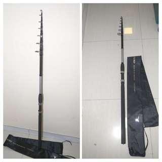 碳素 遠投釣竿 4.2m 竿頭2.2mm 長路亞竿 投釣竿 海竿 遠投竿