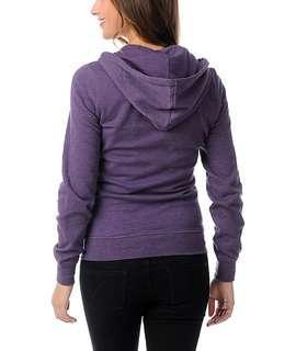 light purple cotton on zip up hoodie