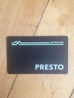 Unregistered Adult presto card December 2018