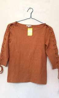 blouse coklat