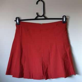 ❤GLASSONS- SIZE 8 ORANGE TENNIS SKIRT❤