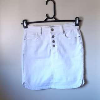 ❤MIRROU- SIZE 8 WHITE DENIM SKIRT❤