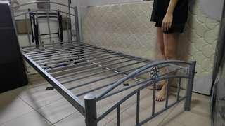 Grey Metal Bed Frame