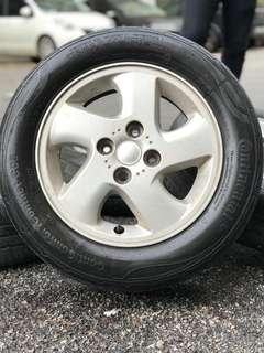 Original 14 inch sports rim myvi kipas tyre 70% mora mora sajurrrrr