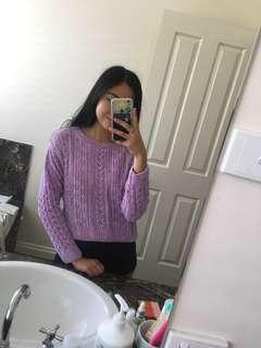purple knit