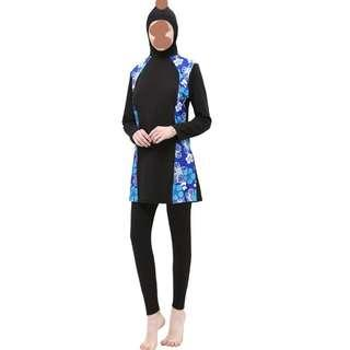 Modest swimming costume for ladies who wear size S to size XXL. Free delivery. UV protection.