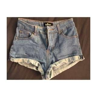 Mink pink Denim Shorts Size 6