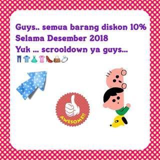 Discount 10% all item