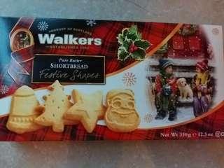 全新Walkers大盒350克聖誕餅