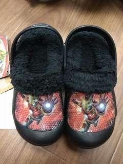 兒童鞋 韓國 毛毛鞋 iron man鋼鐵俠