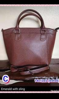 Brown Bag with Sling