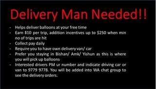 Delivery man needed