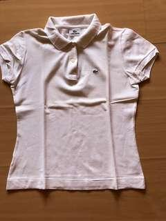 Auth White Lacoste Pique shirt size 40 (s to m)