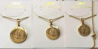 Mama Mary and St. Bennedict necklace (Restock)
