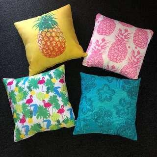 Beachy cushions