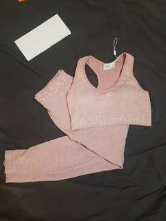Saski collection pink Heather seamless set