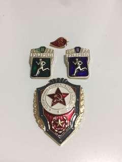 USSR Russia Badge 蘇聯 俄羅斯 軍隊襟章 扣針