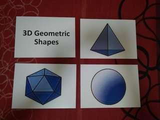 3D Geometric Shapes Flashcards - Glenn Doman and Shichida
