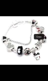 Yr End Sales Mickey Dangles Charm Bracelets & Bangles Silver Plated Minnie Mouse  Pandora Bracelet Sales Ended!