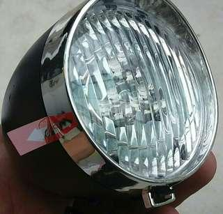 retro chrome headlight