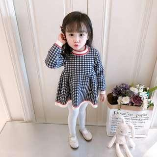 🚚 🌟PM for price🌟 🍀Baby Girl Long Sleeves Plaid Dress🍀