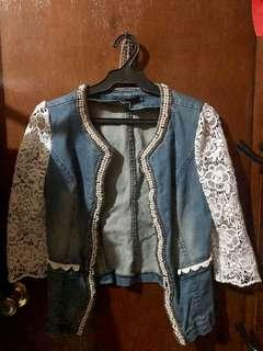 Beaded Denim Jacket